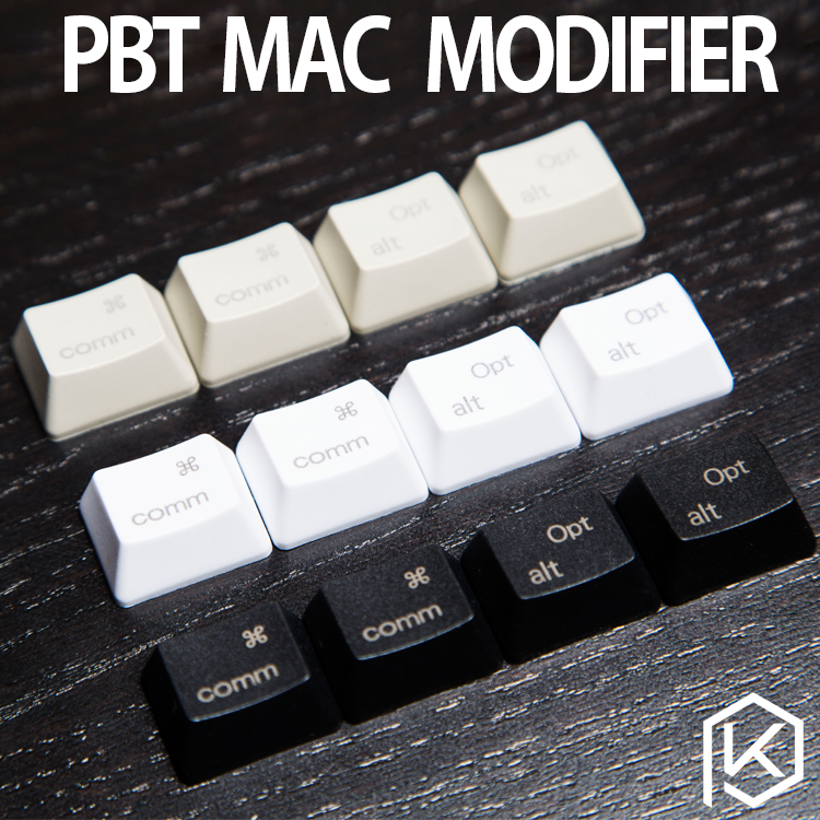 PBT Laser Keycaps Mac Keys In OEM Profile With Cherry MX Stems PBT Plastic Command Option Macos Keys For Gh60 87 104 Ansi 1.25u