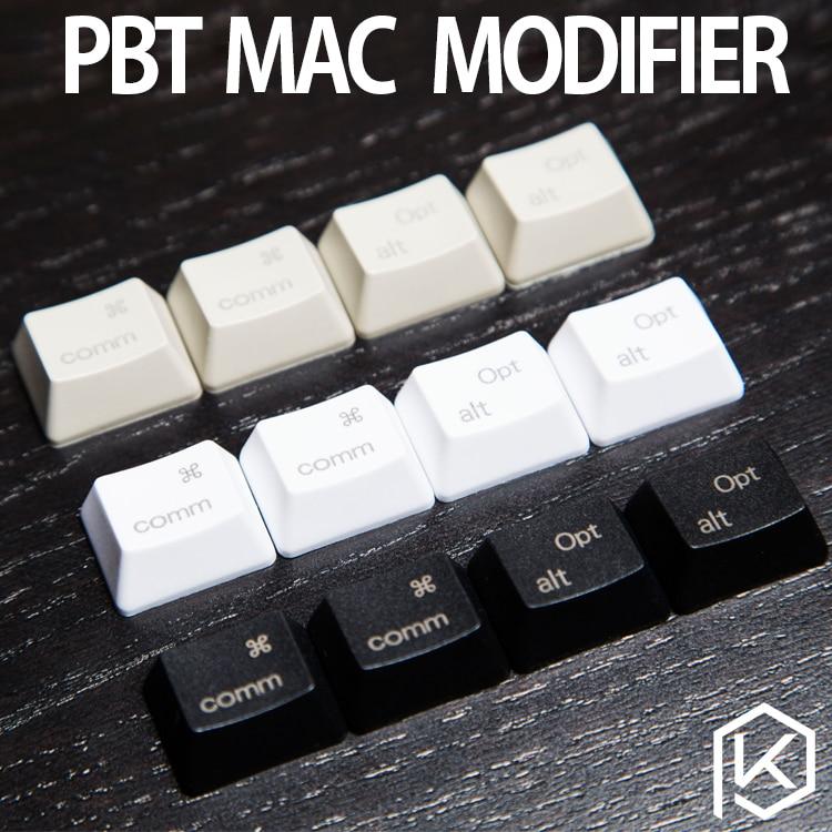 PBT Laser Keycaps Mac Keys In OEM Profile With Cherry MX Stems PBT Plastic Command Option Macos Keys For Gh60 87 104 Ansi 1.25u