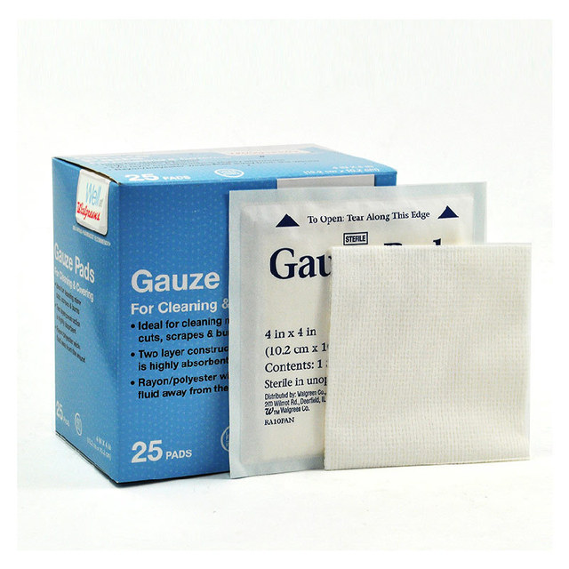Free Shipping 25 Pcs 102cm102cm Medical Wound Dressing Gauze Pad