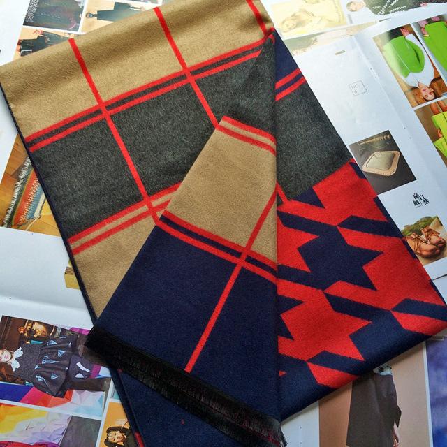 Clásico de pata de Gallo de Invierno de Lana Gruesa Bufanda Chal De Cachemira Femenina Mujeres Cheques Calientes Bufandas de Cuello Caliente