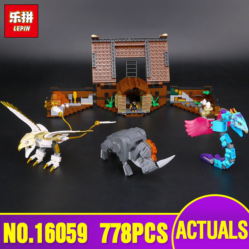 Lepin 16059 Harry Movie Potter The Legoing 75952 Newt`s Case of Magical Creatrues Set Building Blocks Kids Toys Christmas Gifts in stock 16059 harry movie potter legoingp 75952 newt s case of magical creatrues set model building blocks kids toys christmas