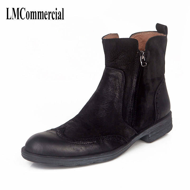 Bullock carved leather shoes Fall Classic color high fashion casual boots for Martin cowhide breathable boots men spring 2017 bullock carved casual shoes men shoes leather shoes all match korean students spiritual breathable sneaker fashion