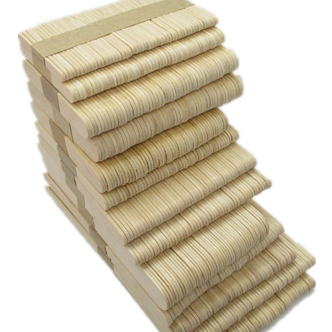 Popsicle Stick Ice Cream Sticks Birch Wood Ice-lolly Wooden Stick, Cambered Polished Edge Length 93mm 50pcs/lot popsicle rod stick ice cream rod wooden ice lolly stick length120mm diameter5mm 50pcs lot