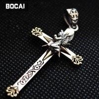Good Vibrations virgin angel 925 Sterling Silver Pendant Pendant Necklace Silver Cross male female