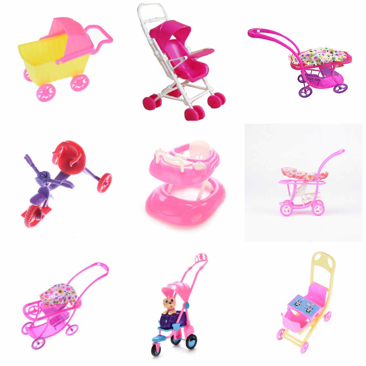 Кукольный домик мебель мини ходунки коляска Тележка для покупок куклы для мини куклы Детская девочка мебель кукла детская игрушка