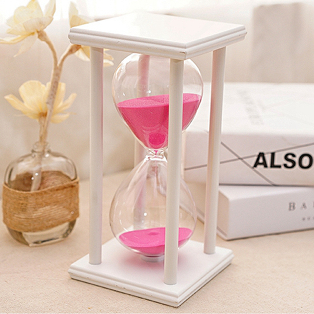 60 Minutes Colorful Transpa Crystal Sandgl Hourgl Gl Sand Timer Clock Home Decor Wedding Decoration Accessories