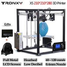 Tronxy X5 алюминиевая конструкция 210*210*210 мм DIY 3D комплект принтера rerap с 1 рулон Бесплатная 10 м нити 8 ГБ SD карты в качестве подарка