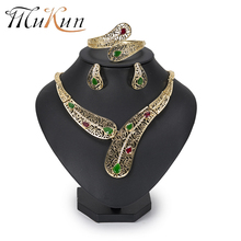 MuKun African Beads jewelry sets for women top gold-color Dubai Plated Fashion Wedding Turkish Costume Jewelry 2018 New Arrivals