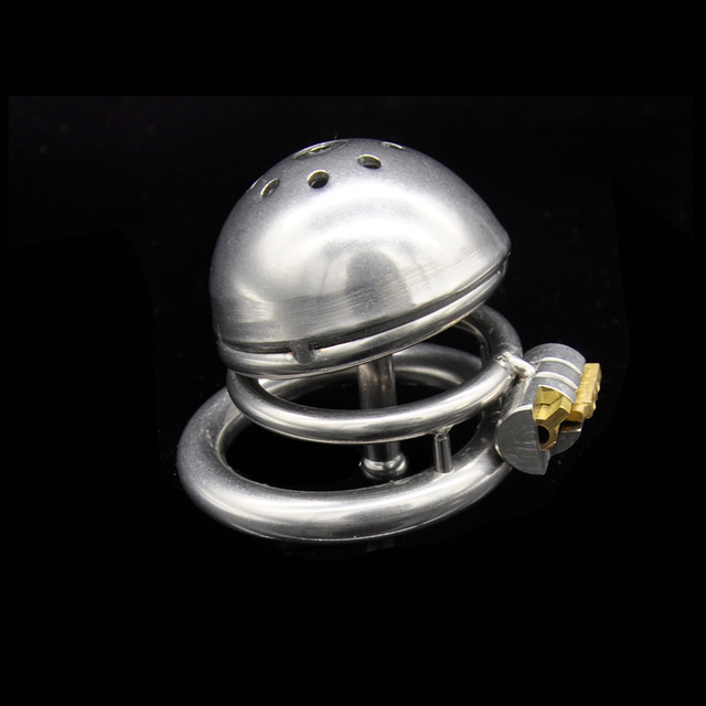 stainless steel small penis lock cock cage chastity device cock ring chastity cage with urethra stimulation sex products for man