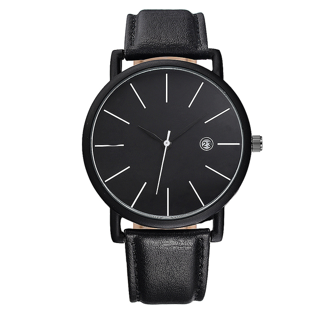 BAOSAILI Brand Clean Popular Leather Strap Unisex Men Women Wrist Watch with Calender Waterproof life Lovers Quartz Watch BS1040
