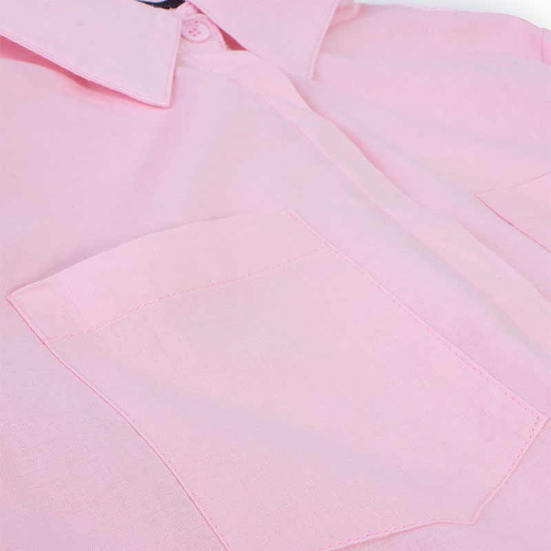 ZANZEA мода 2019 осень женские блузки повседневные свободные рубашки с длинными рукавами пуговицы с отворотом шеи Твердые хлопковые топы Blusas Femininas