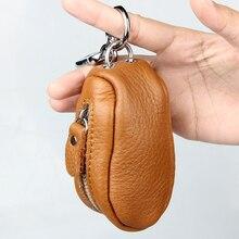Телячья сжатые holder ключей ключевые случаи key натуральная ключ брелок автомобиль