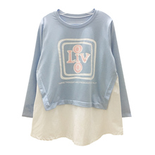 2835# Lovely Printed Cotton Patchwork Maternity T Shirts 2018 Spring Fashion T-Shirt Clothes for Pregnant Women Pregnancy Tops