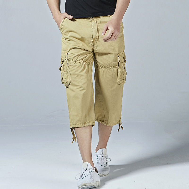 Leelion 2018 Summer New Fashion Casual Loose Cargo Shorts Men Big Size Solid Fitness Mens Shorts With Pockets Bermuda Masculina