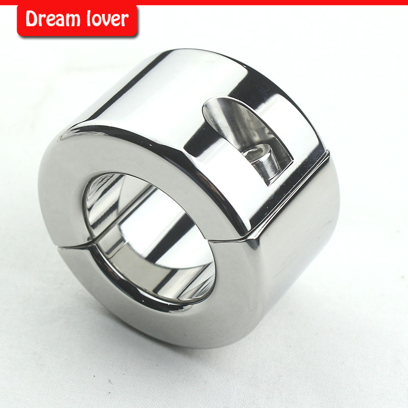 620g Heavy stainless steel ball stretcher Stainless Steel Scrotum Pendant Ball Stretcher Cock Cage Slave Sex