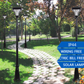 1.9M/2.2M 200LM Outdoor LED Solar Garden Post Light Waterproof Pillar Lamp for Garden Decor Path Home Landscape Lawn Yard Street
