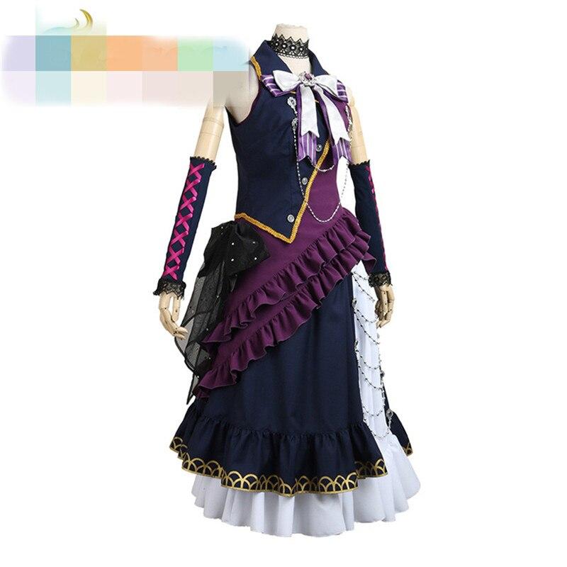 Bang Dream! Черный кричать shirokane Ринко Лолита платье для вечеринок show костюмы для Для женщин o