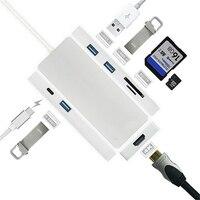 Neue USB 3.0 Ports SD/TF typ C Lade Kartenleser für Macbook Pro High Speed 7 Port Hub USB Combo USB Hub Für Laptop Für Mac