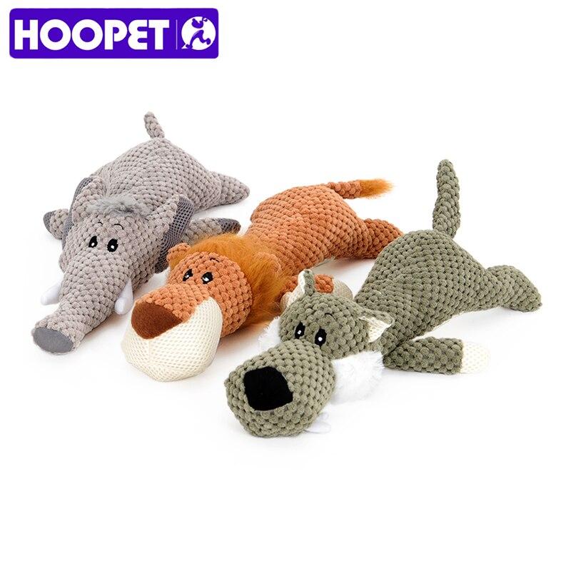 HOOPET Mascota de Juguete Forma Animal León Elefante Sound Chew Tres Colores Juguetes Interactivos
