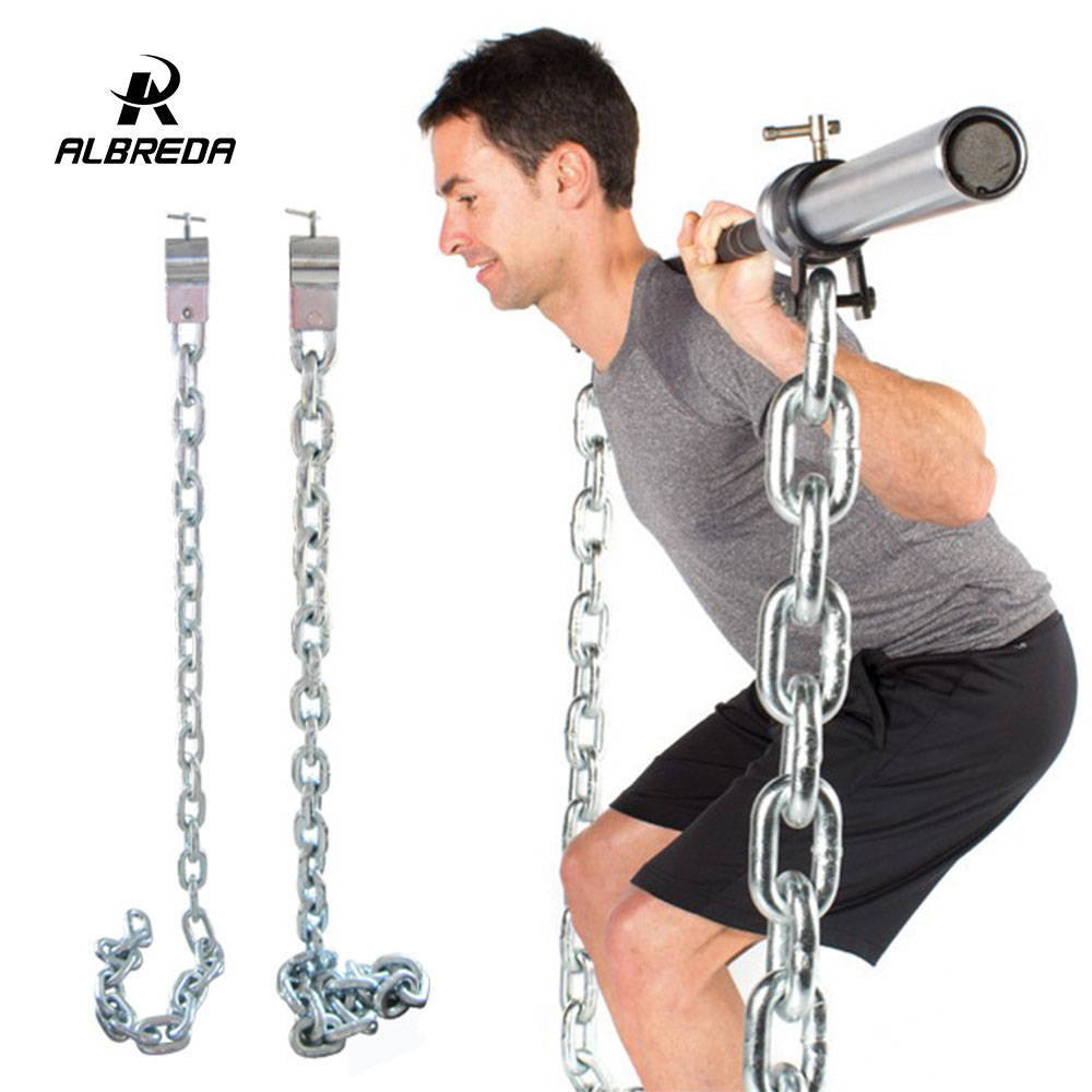 ALBREDA Weight bearing iron chain squat barbell Fitness equipment accessories Electroplated iron chain Gym Power Exercise