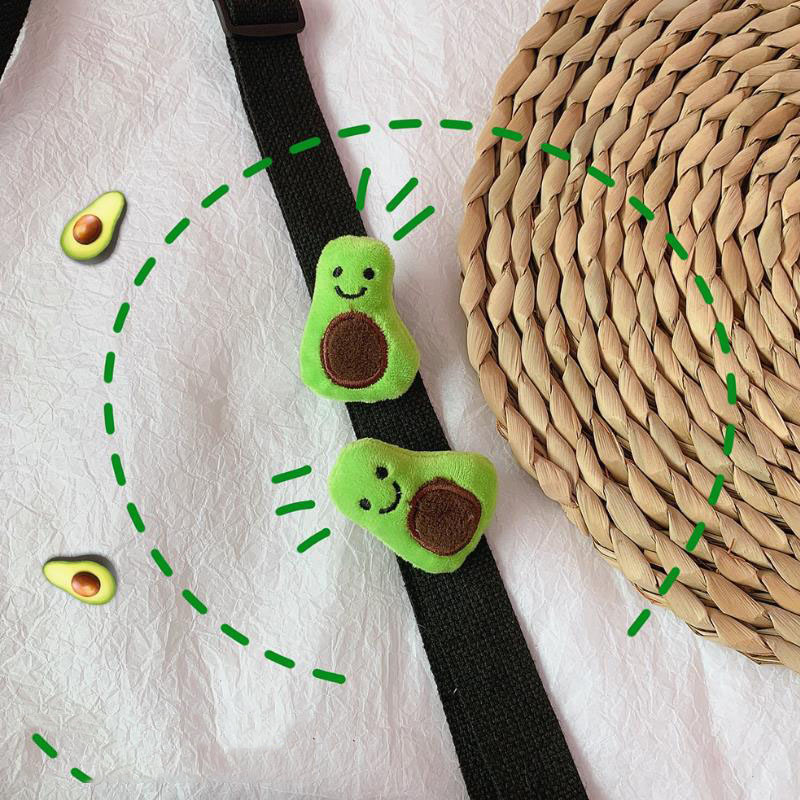 1pc New Fashion Fruits Avocado Plush Doll Badges Cute Icons On The Backpack Pin Brooch Badge Plush Toys Gift