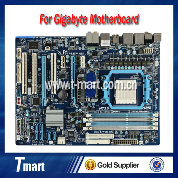 ФОТО 100% working Desktop motherboard for Gigabyte GA-870A-UD3 System Board fully tested