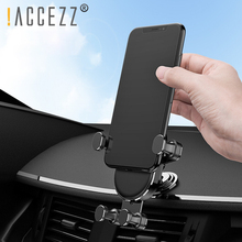 !ACCEZZ Universal Gravity Bracket Car Phone Holder 360 Rotation For iPhone 7 8 X XR Xiaomi Redmi Note In GPS Stand