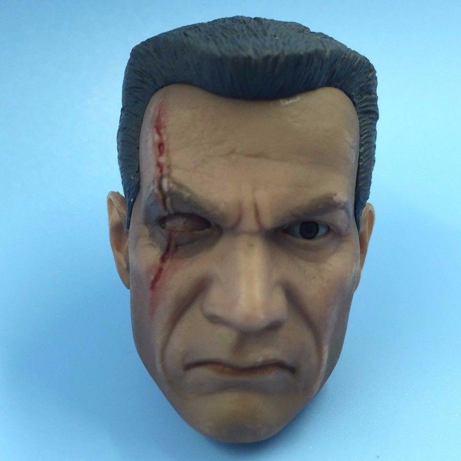 1/6 Star Wars Clonetrooper Commander Wolffe Cybernetic Eye Head Sculpt