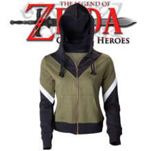 KIM HA NEU Game The Legend of Zelda Hooded Autumn Winter Coat Cosplay Costume for Men
