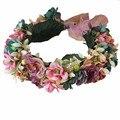 Venda de la boda flores de La Cinta Hairbands Ajustables Boho Floral Corona de La novia de Regalo de boda Accesorios de La Muchacha Del Cabrito Del Pelo Guirnalda de frutas Decoración