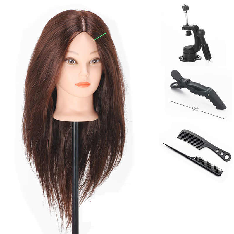 Professional 58cm 22inch Hairdressing Dolls Heads Female Mannequin Practice Perming Hairdressing Styling Mannequin Head