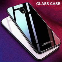 For Samsung Galaxy J3 J5 J7 2017 Pro Luxury Tempered Glass Cover Hard Phone Case for J2 Prime J530 J730 J330 Cases