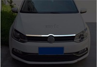Fit for Volkswagen/Vw Polo 20142 015 2016 2017 stainless steel Front Bonnet Machine Cover Molding Trim 1 pcs