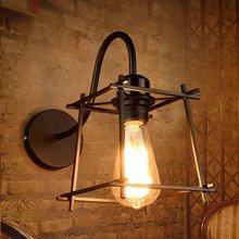 Industrial lámparas de pared Vintage de la pared de la lámpara luces lámparas lámpara con marco de Metal