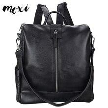 Moxi женский рюкзак, модный рюкзак из натуральной кожи для женщин, Повседневная многофункциональная наплечная сумка, рюкзак, настоящие сумки из коровьей кожи