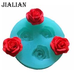 3D rose fleurs de mariage de chocolat de décoration de gâteau outils 3D cuisson fondant silicone moule permet de créer facilement des verse du sucre T0157