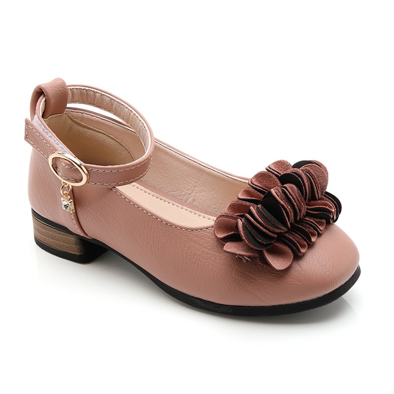 Girls Shoes For Party Wedding High-Heeled Flower Princess Leather Dress Shoes Girls Big Kids 2019 Shoes 3 4 5 6 7 8 9 10 11 Year