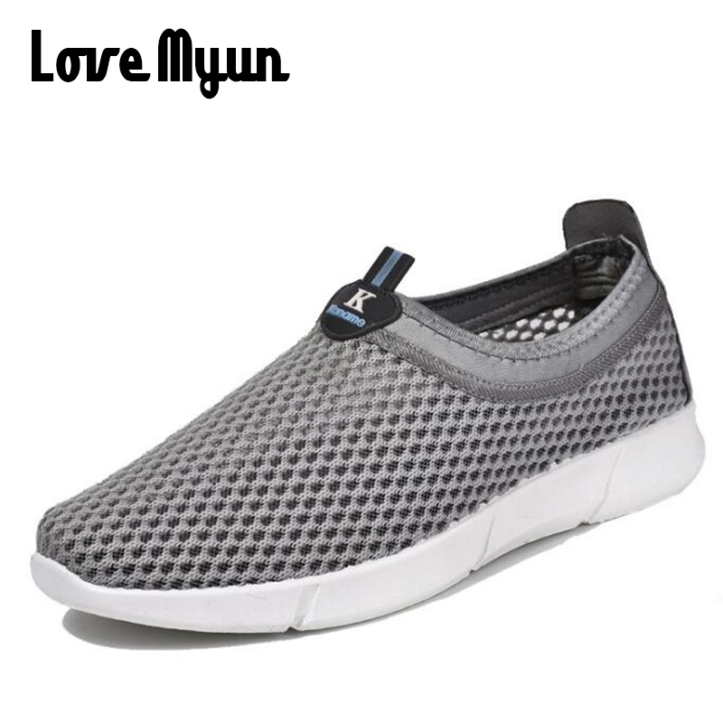 2018 fashion breathable summer men loafers shoes flats lightweight casual Air mesh sneaker zapatillas deportivas shoes WDTT-62