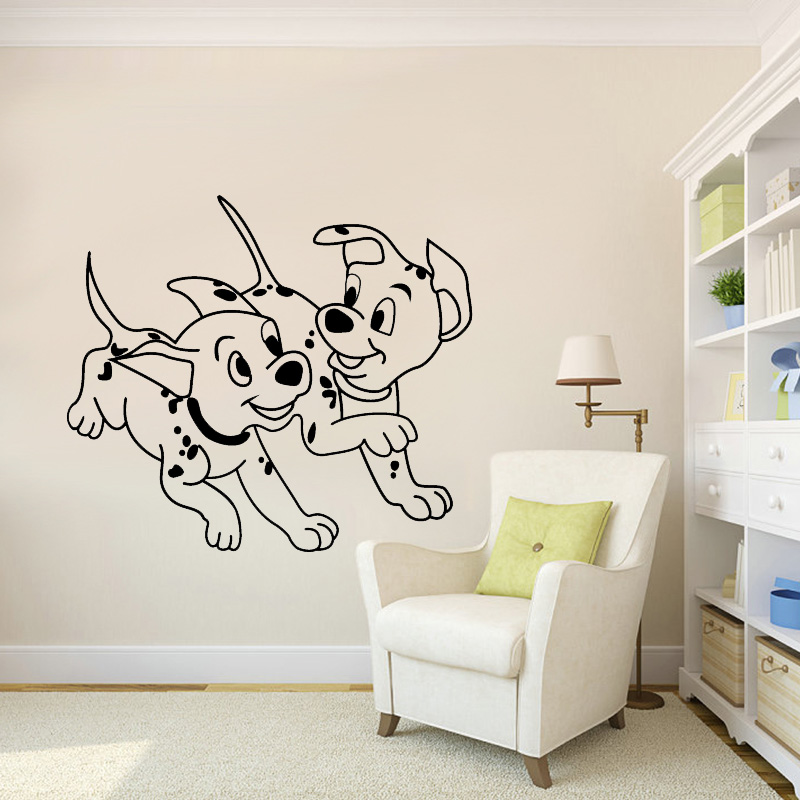 Muyuchunhua Spotted Dogs Wall Stickers for Kids Rooms Home Decoration Accessories Decal Wall Stickers Wall Decor