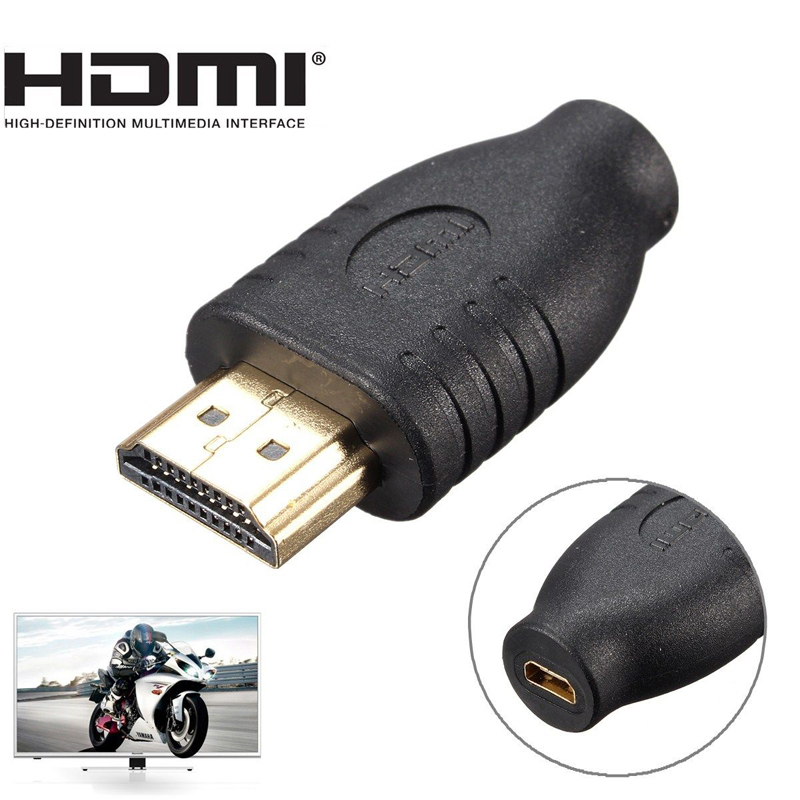 лучшая цена 1pc Professional HDMI converter Black Standard HDMI Male Type A to Micro HDMI Type D Female Socket Adapter Mayitr