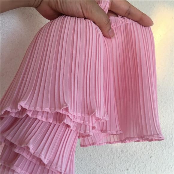 1 Meter 6.69inch Width Chiffon Lace Fabric Ruffle Trim For Girls Dress Material