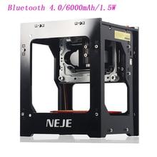 2019 hot selling NEJE DK-BL 405nm 1500mw high power DIY mini cnc bluetooth laser engraver router machine for depth engraving