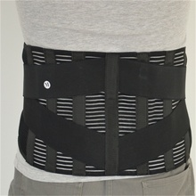 Lumbar Lower Waist Double Adjustable Back Belt For Pain Relief Durable Black Waist Support Brace Belt  Gym Sports Accessories