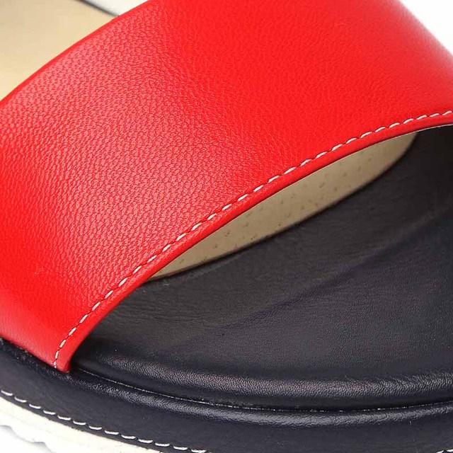 2017 New Open Toe Flat Women Sandals Comfortable Summer Genuine Pu Leather Flat Women Sandal Shoes Roman Mujer Sandalias Ladies