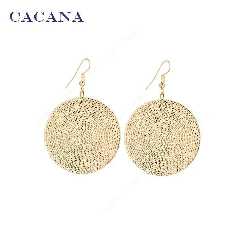 CACANA Long-Earrings Dangle Hot-Sale Women Fashion For Big Round Bijouterie No.a191 A192