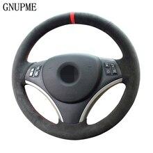 GNUPME черный DIY Вручную прошитый замши руль Обложка для BMW E90 325i 330i 335i автомобиль аксессуары для интерьера