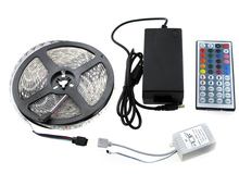 Free shipping L5  RGB LED Strip 5050 5m + IR 44Key Controller + DC12V 6A Adapter Flexible LED Light RGB Sets.