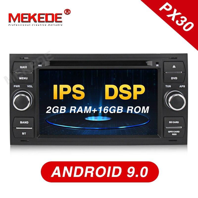 Lecteur vidéo multimédia de voiture MEKEDE 2 Din Auto Radio Android 9 pour Ford/Mondeo/Focus/Transit/C-MAX/S-MAX/Fiesta GPS DVD DVR