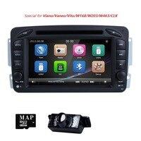 AutoRadio 2 Din Car DVD Player Multimedia For Mercedes Benz vito w639 CLK C 209 W203 W168 ML W163 W463 viano Vaneo1998 2006Audio