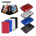 Surface Waterproof Fashion Aluminum Credit  Bank Card Pack Card  Package Folder Cartridge Card Holder